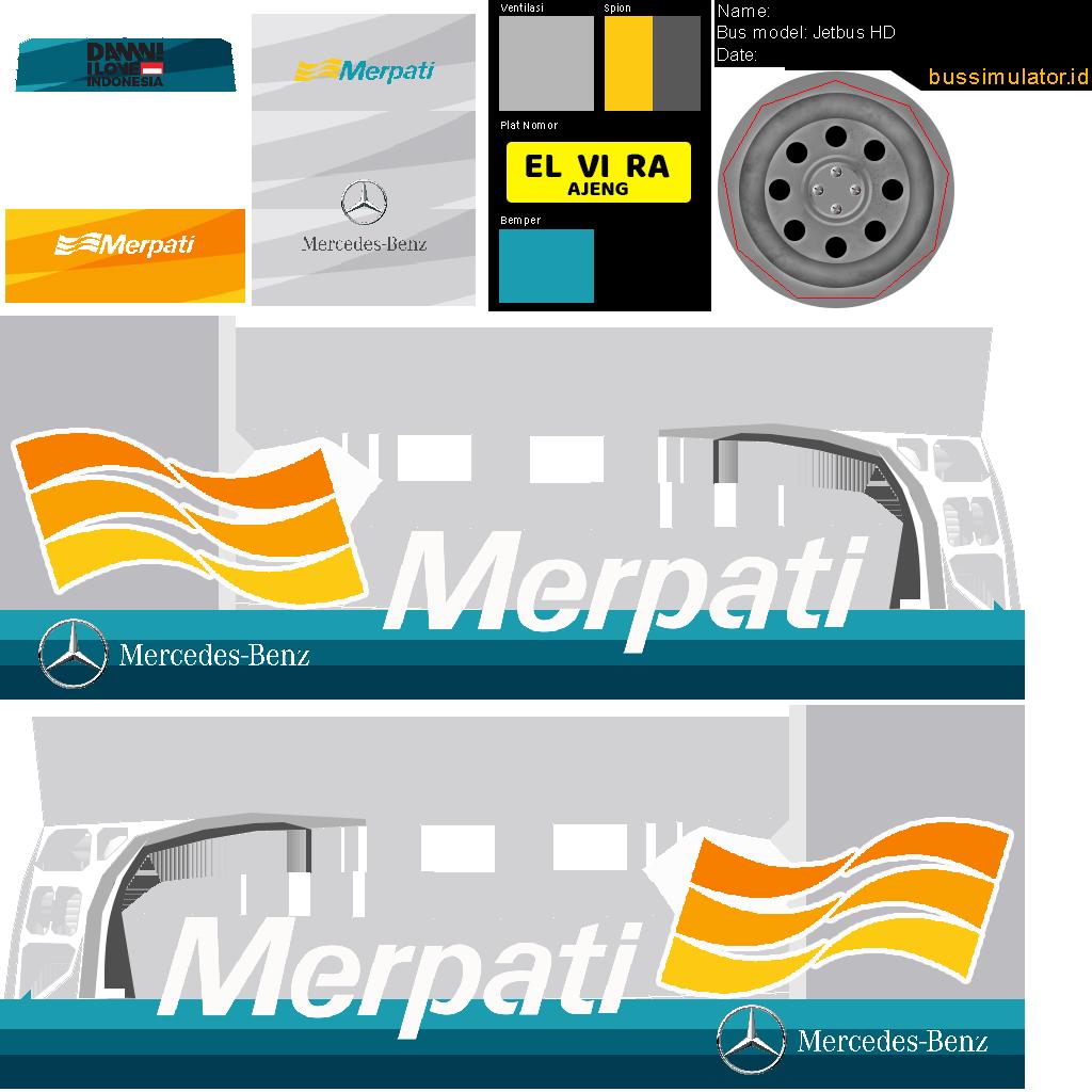 Livery Bus Simulator Indonesia Versi Maskapai Penerbangan di